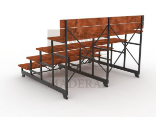 Gradería metal madera 4 niveles